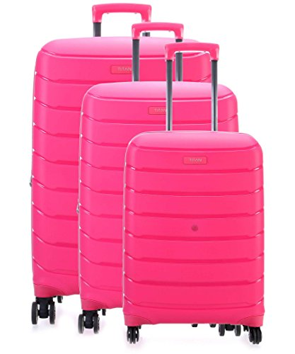 "Titan Limit 3 Piece Polypropylene Unbreakable Spinner Set - 30"", 27"", 21"" (Hot Pink)"