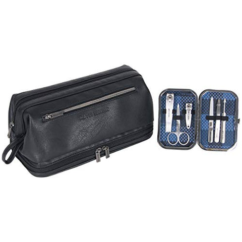 Ben Sherman 2-Piece Settravel Kit and 6-pc Manicure, Black