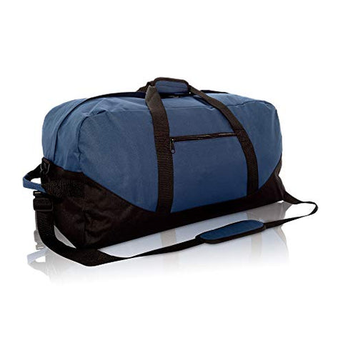 "Dalix 25"" Big Adventure Large Gym Sports Duffle Bag In Navy Blue"