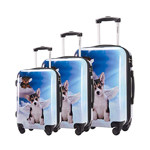 Chariot Luggage Light Weight PC+ABS Spinner Suitcase Sets 20/24/28inch TSA Lock Available Dream