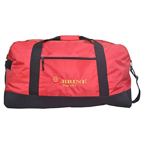 Mcbrine Luggage Mcbrine Red/Black Polyester 28-Inch Lightweight Duffel Bag Red