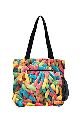 Sweets-A-Riffic Candy Tote Bag (Gummy Worms)
