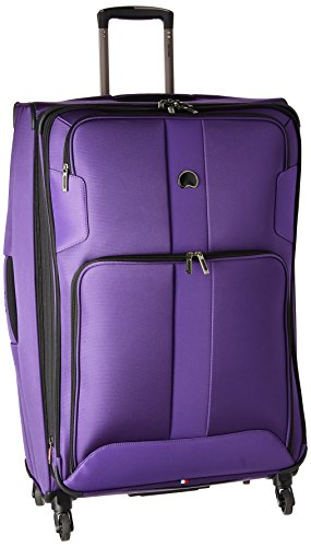 Delsey Paris Luggage Sky Max 29 inch Expandable Spinner Suitcase, Purple