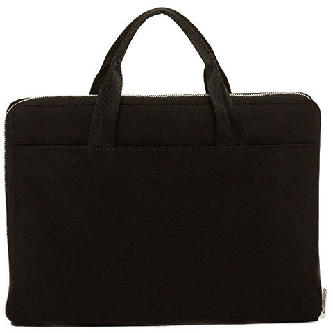 Hook And Albert Waxed Canvas Reversible Portfolio, Black (Black)