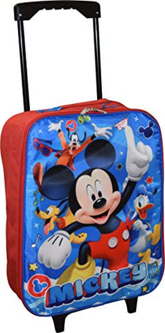 "Disney Junior Mickey And The Roadster Racers 15"" Collapsible Wheeled Pilot Case - Rolling Luggage"