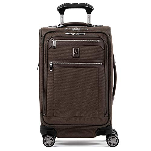 "Travelpro Luggage Platinum Elite 21"" Carry-On Expandable Spinner W/Usb Port, Rich Espresso"