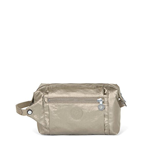 Kipling Women'S Aiden Metallic Toiletry Bag One Size Metallic Pewter