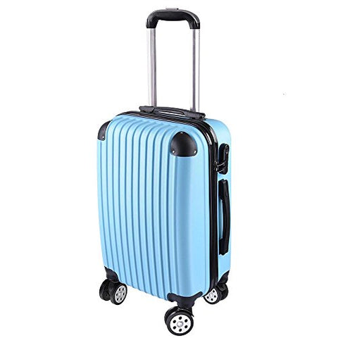 "AW 20"" Rolling Luggage ABS Hard Shell Lightweight Travel Suitcase 360 Degree 4 Wheels Lockable"
