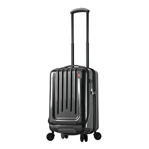 "Planet Traveler USA Space Case 1 20"" Smart Carry-On (Polished Carbon Fiber"