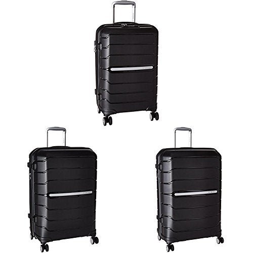 "Samsonite Freeform Hardside Three-Piece Spinner Set (21""/24""/28""), Black"