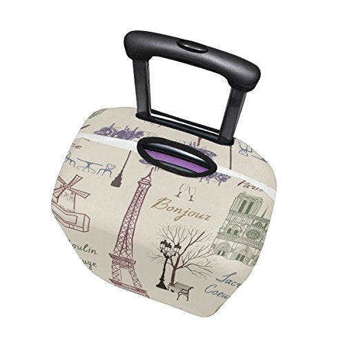 GIOVANIOR Paris Eiffel Tower Luggage Cover Suitcase Protector Carry On Covers
