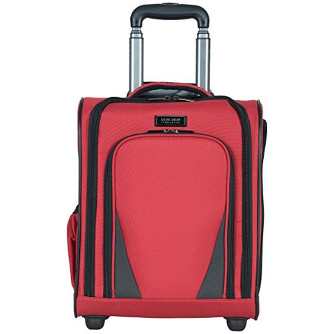 "Kenneth Cole Reaction Going Places 16"" 600d Polyester 2-Wheel Underseater Carry-on Luggage, Red"