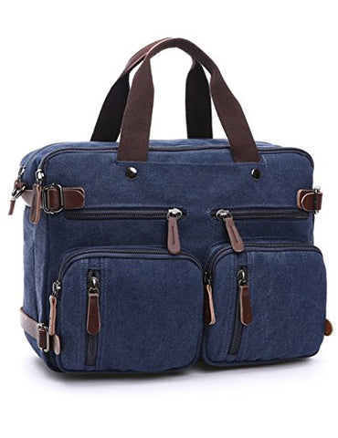 Aidonger Multifunctional Bag Convertible Briefcase Shoulder Backpack (Dark Blue)