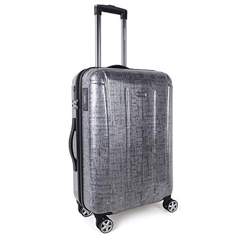 Carry On Luggage with Spinner Wheels and Integrated Weight Scale Built In TSA Lock Hard Shell Lightweight PC 20 Inch Rolling Travel Suitcase Small Cabin