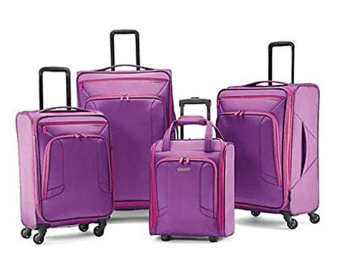 American Tourister 4-Piece Set, Purple/Pink