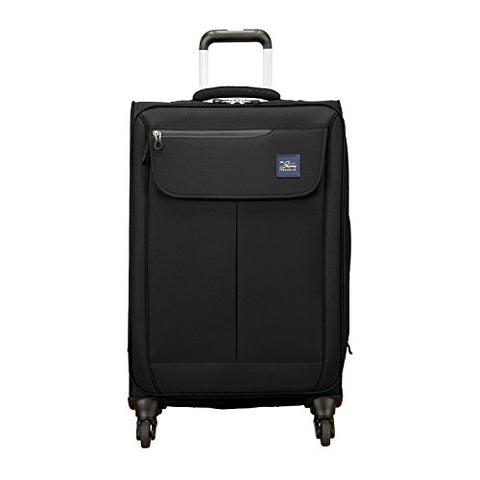 Skyway Mirage 2.0 24-Inch 4-Wheel Spinner Luggage, Black