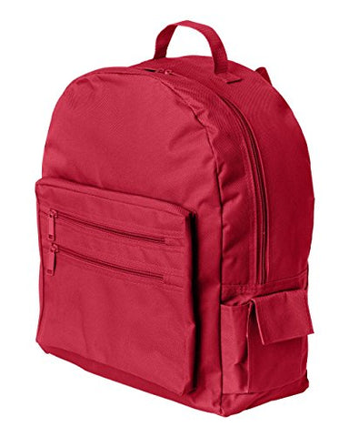 Ultraclub Accessories Backpack On A Budget 7707 -Red One