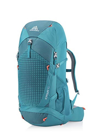 Gregory Mountain Products Icarus 40 Liter Kid's Hiking Backpack, Capri Green, One Size