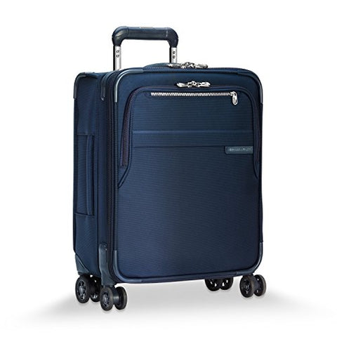 "Briggs & Riley Baseline International Carry-On Expandable Wide-Body 21"" Spinner, Navy"