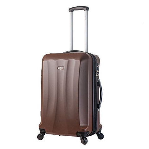 Viaggi V1010L-28In-Brw Italy Siena Hardside 28 Inch Spinner, Brown