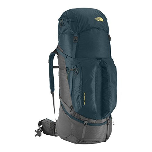 North Face Fovero 85 Hiking Backpack Large/X Large Monterey Blue Goldfinch Yellow