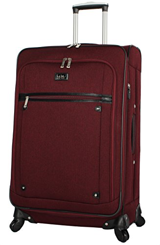 "Nicole Miller Paige Collection 24"" Expandable Luggage Spinner (24 in, Rosalie Burgundy)"