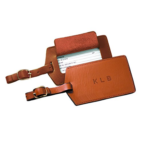 Royce Leather Popular Luggage Tag (Tan)
