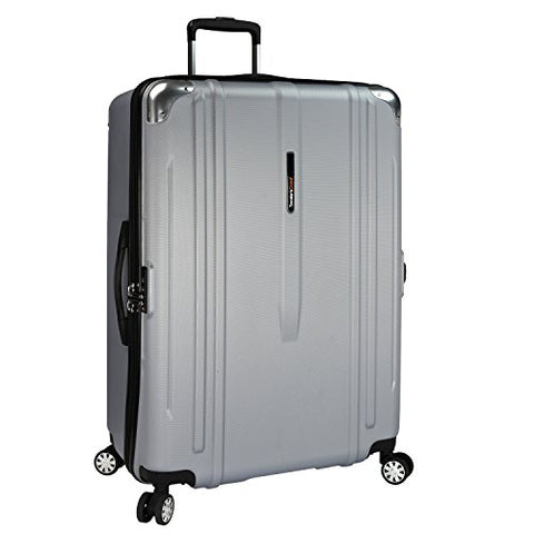 Traveler'S Choice New London 100% Polycarbonate Trunk Spinner Luggage - Silver ( 29-Inch )