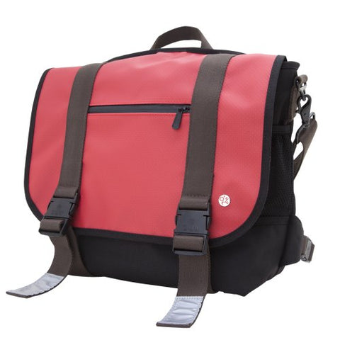 Token Bags Lorimer Matte Vinyl Messenger Bag, Red, One Size