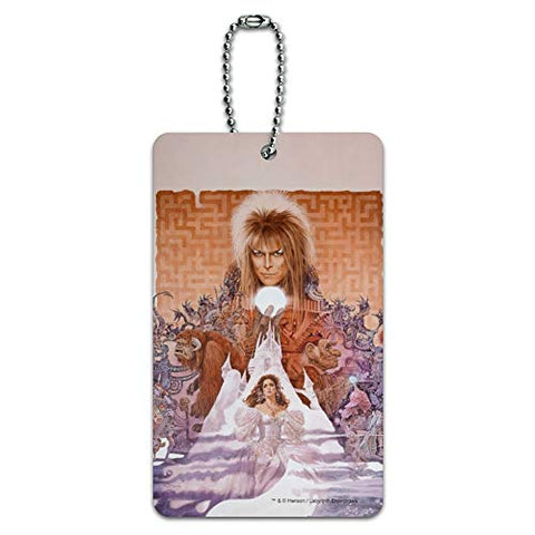 Labyrinth Movie Art Goblin King Jareth David Bowie Luggage Card Carry-On ID Tag