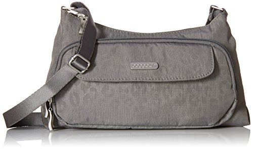 Baggallini Everyday Crossbody Bagg, Pewter/Che, One Size
