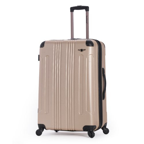 Shop Rockland Hard 28 Quot Spinner Luggage Champagne Luggage Factory