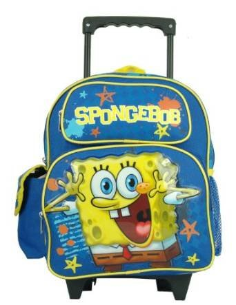 "Spongebob Squarepants Toddler 12"" Rolling Backpack"