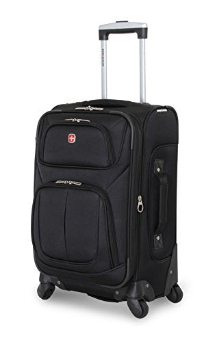 "Swissgear Sion 21"" Black Carry-On Luggage, Black"