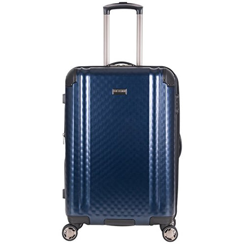 "Ben Sherman Carlisle 24"" Hardside Expandable 8-Wheel Spinner Checked Luggage, Navy"