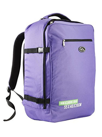 Cabin Max Madrid 50x40x20centimeter Backpack Lightweight Carry on Easyjet and Ryanair (Purple)