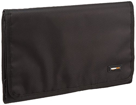 Amazonbasics Tri-Fold, Expandable Cosmetics And Toiletry Organizer/Travel Bag With Hanging Hook