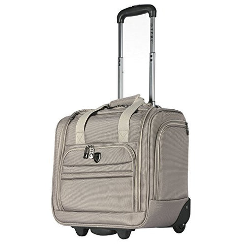 "Travelers Club Luggage 16"" Under The Seat Top Durable Fabric Carry-On Luggage, Taupe"