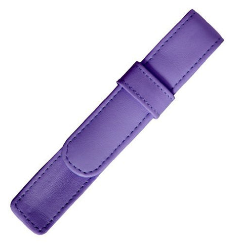 Royce Leather Single Pen Case - Purple