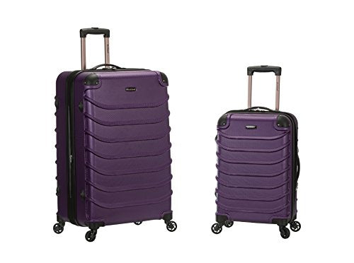 Rockland Speciale 20 Inch 28 Inch 2 PC Expandable ABS Spinner Set, Purple, One Size