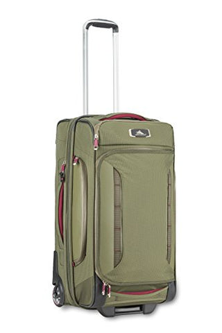 "High Sierra At8 26"" Wheeled Duffel Upright, Olive/Cranberry, One Size"