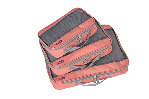 American Flyer Perfect Packing Cube 3Pc Set, Coral