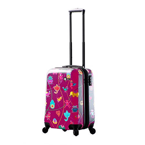 "Mia Toro M1306-20in-pnk Italy Mistico Hardside Spinner Luggage 20"" Carry-on, Pink"