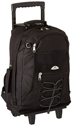 Everest Wheeled Backpack, Black, One Size