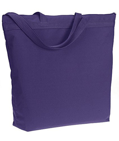 Bodek And Rhodes 60115370 8802 Ultraclub Zippered Tote Purple - One