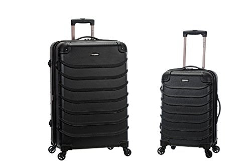 Rockland Speciale 20 Inch 28 Inch 2 PC Expandable ABS Spinner Set, Black, One Size