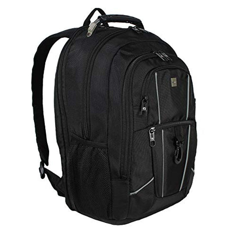 "Dejuno Commuter Backpack Checkpoint-Friendly 15.6"" Laptop Pocket - Black, One Size"