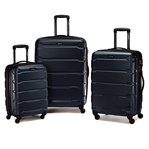 Samsonite 68311 Omni PC Hardside Spinner  20 24 28,  Navy,  3 Piece Set