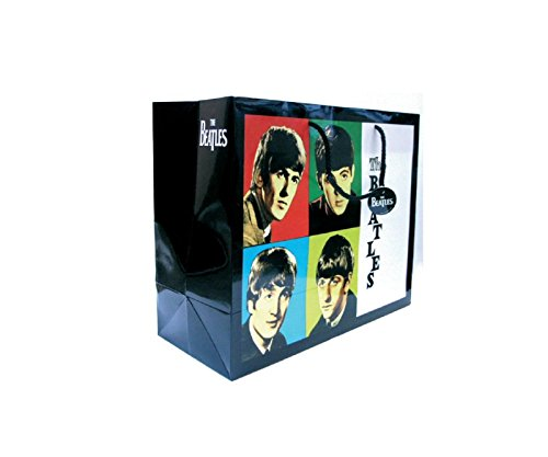 The Beatles Gift Bag Early Years Band Logo Official Black 33Cm H 26Cm D 13Cm