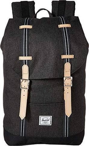 Herschel Supply Co. Unisex Retreat Mid-Volume Black Crosshatch/Black One Size